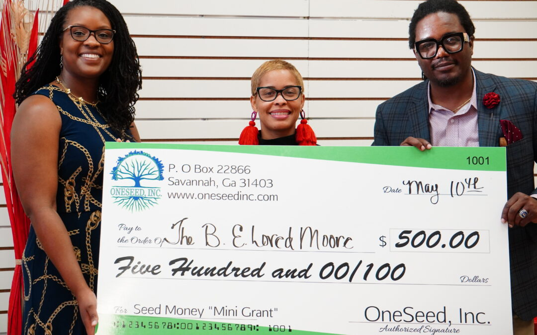 The B.E. Loved Moore Foundation Inc. Awarded Resource Mini Grant