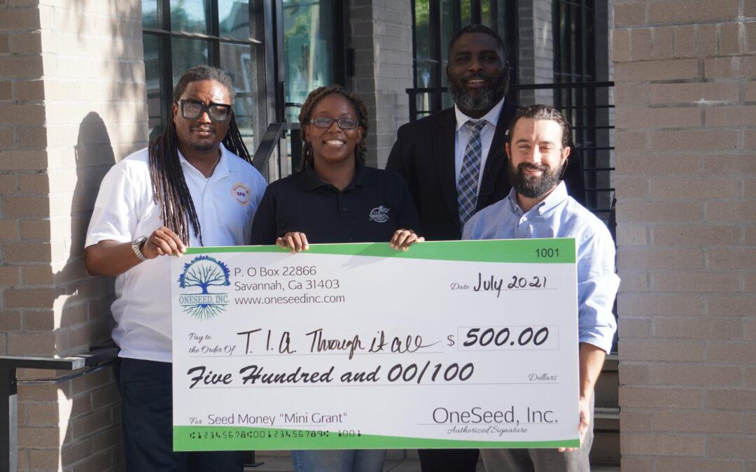OneSeed, Inc. Names T.I.A. Through it All, Inc. as its July Mini Grant Award Recipient