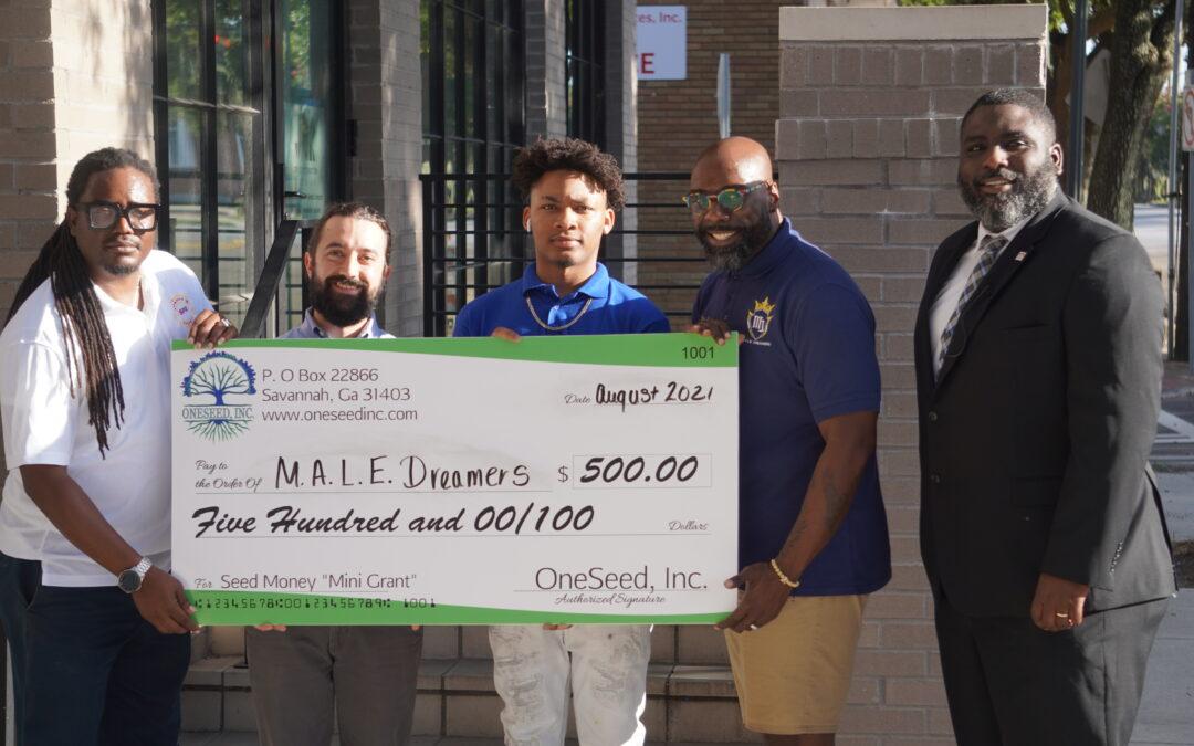OneSeed, Inc. Names M.A.L.E. Dreamers Youth Development & Mentorship, Inc. as its August Mini Grant Award Recipient